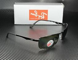 Ray-Ban RB3498 - BLACK Frame POLAR GREEN Lenses 64mm Polariz
