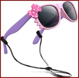 RIVBOS RBK002 Rubber Flexible Kids Polarized Sunglasses for