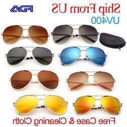 Retro Aviator Polarized Sunglasses for Men Women Mirror Driv