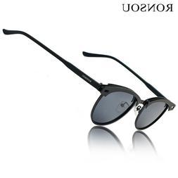 RONSOU Retro Polarized Sunglasses UV400 Protection Eyewear f