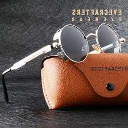 Retro Round Polarized Sunglasses Men Women Vintage Gothic St