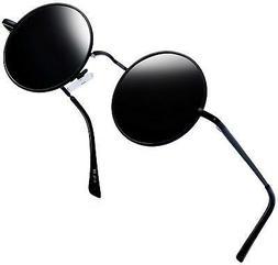 Joopin-Round Retro Polaroid Sunglasses Driving Polarized Gla