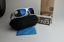 b690886d05fd COSTA DEL MAR SALTBREAK POLARIZED Sunglasses White/Blue mirr