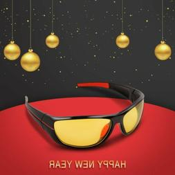 SPORT WRAP AR HD NIGHT DRIVING VISION SUNGLASSES YELLOW HIGH