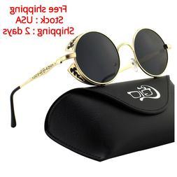 Style Inspired Round Metal Circle Polarized Sunglasses Eyewe