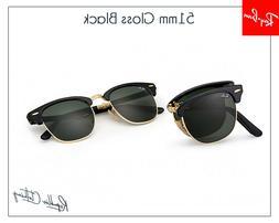 RAY BAN Sunglasses  Folding Clubmaster Black Frame RB 2176 9