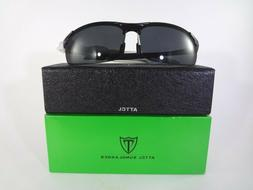 ATTCL Sunglasses Men's Sports Polarized Black 11-A