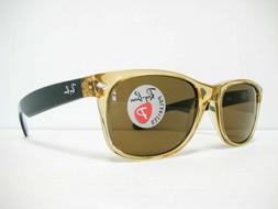 Ray-Ban Men's New Wayfarer Polarized Square Sunglasses, Hone