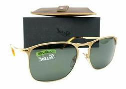 Persol Sunglasses PO7359S 106958 58MM Matte Gold Frame Green