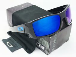Sunglasses-Polarized@@Gascan-Matte Black Blue Mercury Iridiu