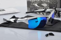 Sunglasses-Half-Jacket-Gift Silver88@Oakley@₇Polarized Blu
