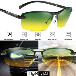 Tac HD Polarized Day & Night Vision glasses Men Driving Pilo