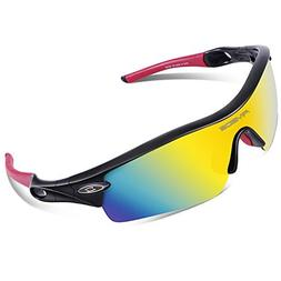 RIVBOS TR 90 Frame RB0805 Polarized Sports Sunglasses Sun Gl