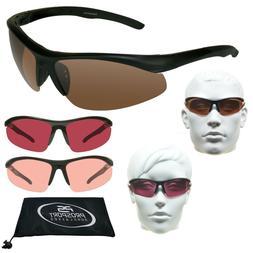 POLARIZED Sport Sunglasses Blue Blocker HD Vision ROSE PINK