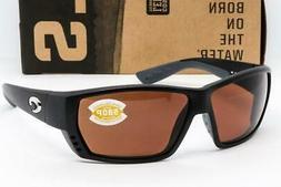 Costa Del Mar Tuna Alley Sunglasses, Matte Black/ Copper 580