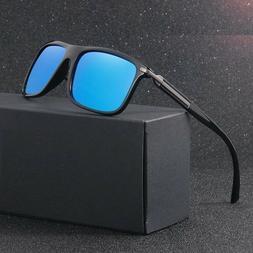 Unisex Mirror Polarized Sunglasses Square Sport Uv Protectio