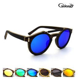 Unisex Zebra Wood Polarized Sunglasses Wooden Frame Outdoor