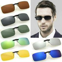 UV400 Sunglasses Polarized Clip On Flip-up Driving Glasses D