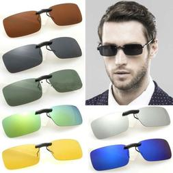 2Pcs Stylish Men Women Unisex Sunglasses Polarized Clip On D