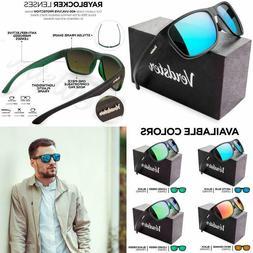 Verdster Mirrored Polarized Sunglasses for Men  Women Trendy  Stylish Black