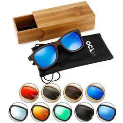 Vintage Men Women Bamboo Sunglasses Polarized Wooden frame g