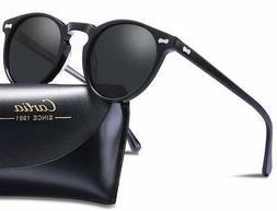 Carfia Vintage Polarized Sunglasses for Men 100% UV400 Prote