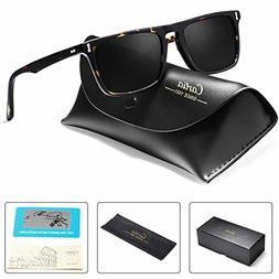 Carfia Vintage Polarized Sunglasses for Men, 100% UV400 Prot