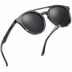 Carfia Vintage Polarized Sunglasses For Women Men Classic De