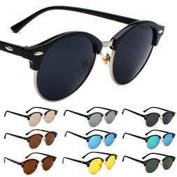 Vintage Retro Polarized Half Frame Sunglasses Men Women's Ho