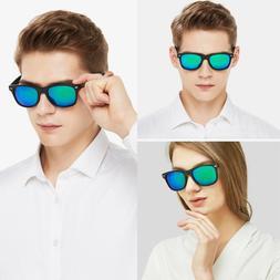 Polarized Sunglasses For Women Men Blue Mirrored Lenses w/ B