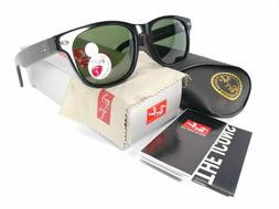 Ray-Ban NEW WAYFARER - BLACK Frame CRYSTAL GREEN POLARIZED L