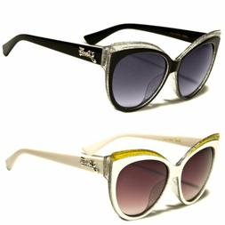 Women's Cat Eye Black Sunglasses Retro Classic Vintage Desig