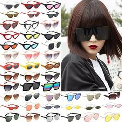 Ladies Shade Metal Frame Eyewear Cat Eye Retro Glasses Vario