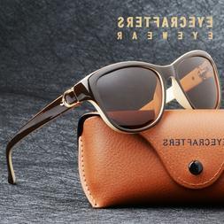 Womens Brand Designer Polarized Cat Eye Sunglasses Fashion O