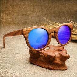 Wood Polarized Sunglasses Women Vintage UV Protection Eyewea