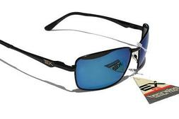 XS PRO Black Metal frame Polarized sunglasses /w Blue Mirror
